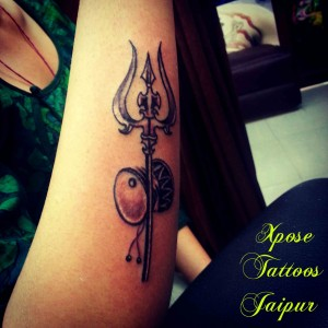 Trishul-trident-damru-Tattoo-by-Xpose-Tattoos-Jaipur-India