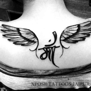 maa-3d-wings-Tattoo-by-XPose-Tattoos-jaipur-India