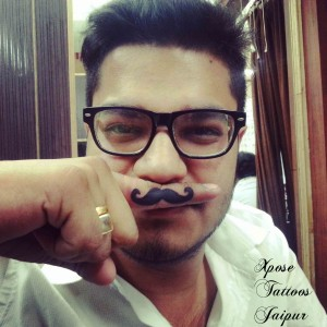 moustache-mustache-tattoo-by-Xpose-Tattoos-Jaipur-India