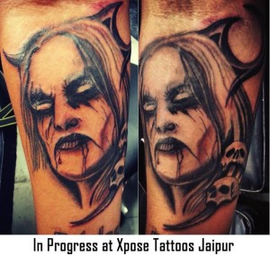 Devil tattoo by Xpose Tattoos Jaipur India