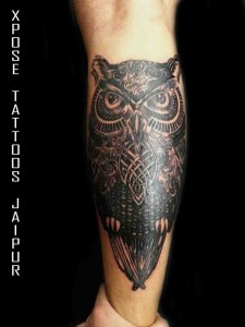 Owl Tattoo by Xpose Tattoos Jaipur India