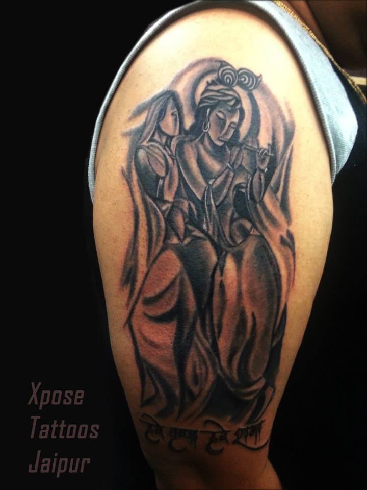 Radha Krishna Tattoo by Xpose Tattoos Jaipur India