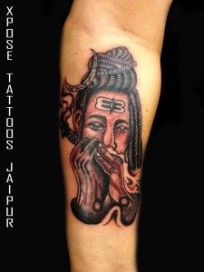 Smoking-Lord-Shiva-Tattoo-by-Xpose-Tattoos-Jaipur-India