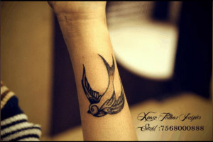 bird tattoo by XposeTattoos Jaipur India