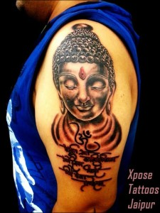buddha gayatri mantra tattoo by Xpose Tattoos Jaipur India