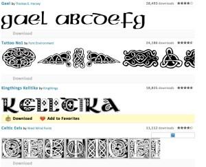 celtic tattoo fonts