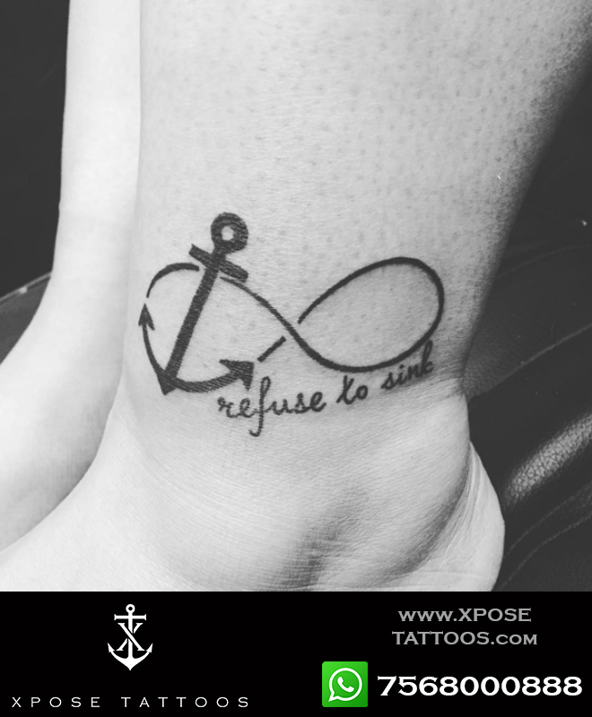 anchord infinity tattoo by xpose tattoos jaipur