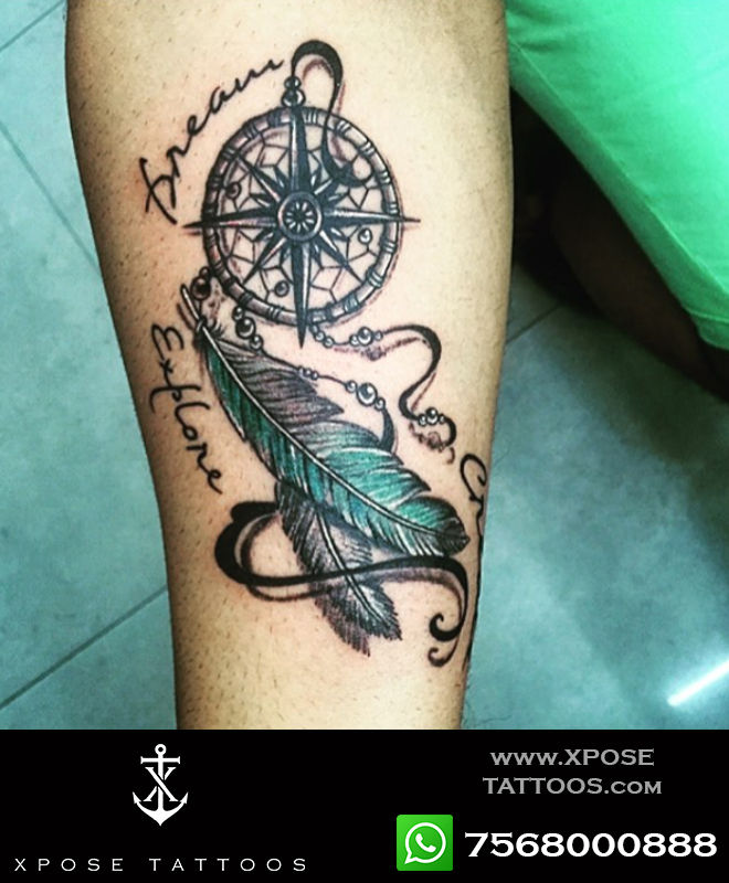 dreaMCATcher tattoo by xpose tattoos jaipur