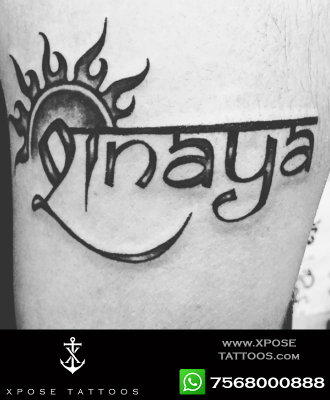 hindi english name tattoo calligraphy by xpose tattoos jaipur