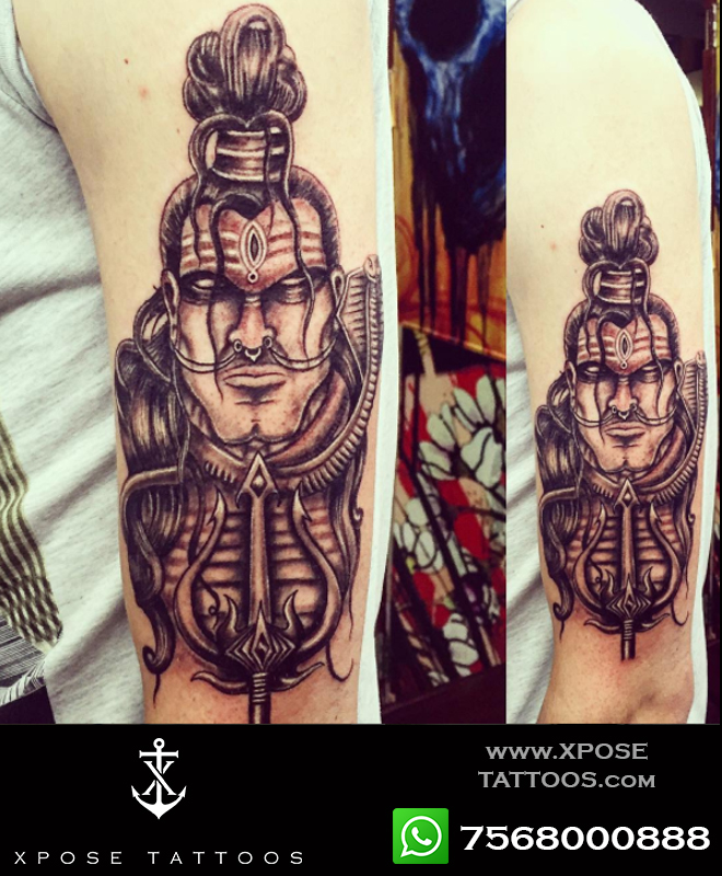 lord shiva tattoo by xpose tattoos jaipur