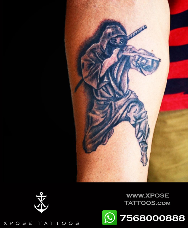 ninja tattoo by xpose tattoos jaipur