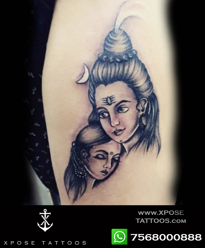 shiv parvati tattoo by xpose tattoos jaipur