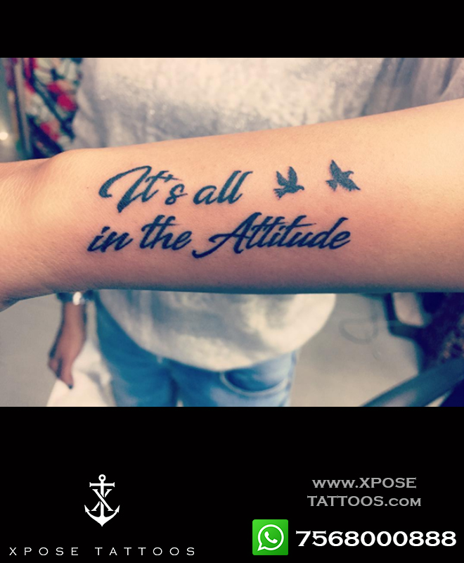 text tattoo birds at xpose tattoos jaipur