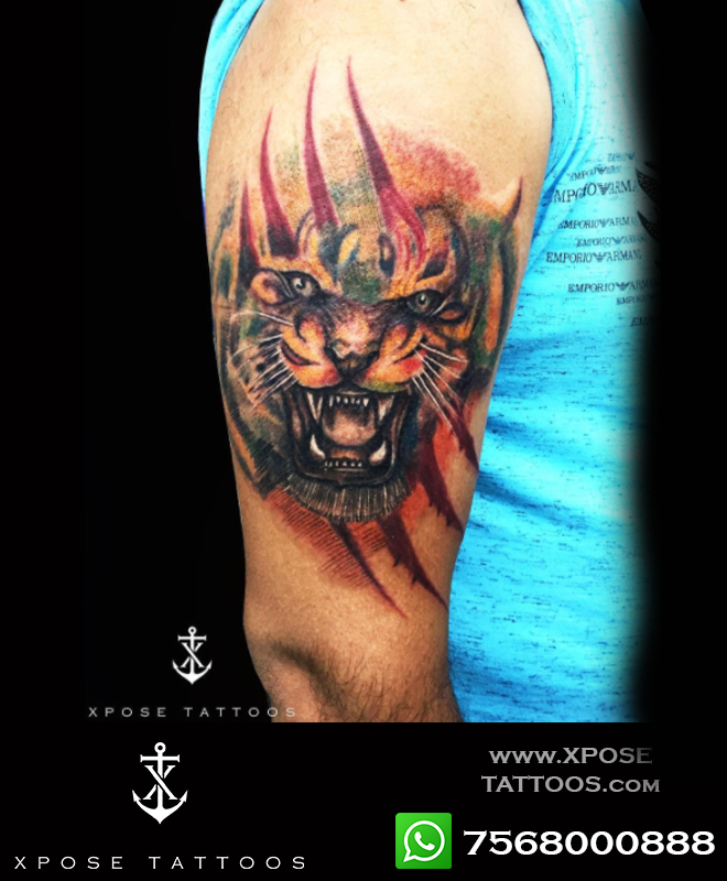 tiger tattoo by xpose tattoos jaipur