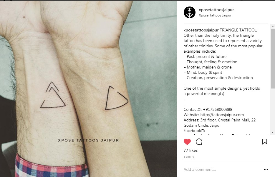 Couple Triangle Tattoo At Xpose Tattoos Jaipur Xpose Tattoos Jaipur