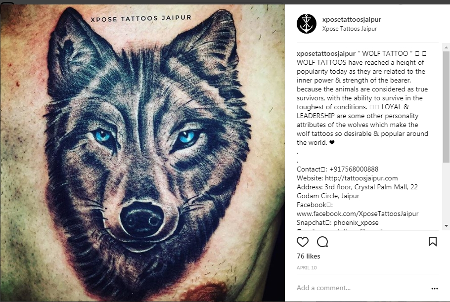 fox portrait realistic tattoo by xpose tattoos jaipur